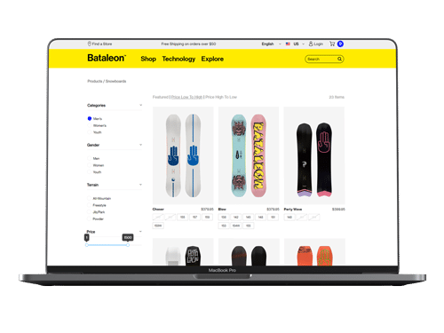 website bataleon op macbook
