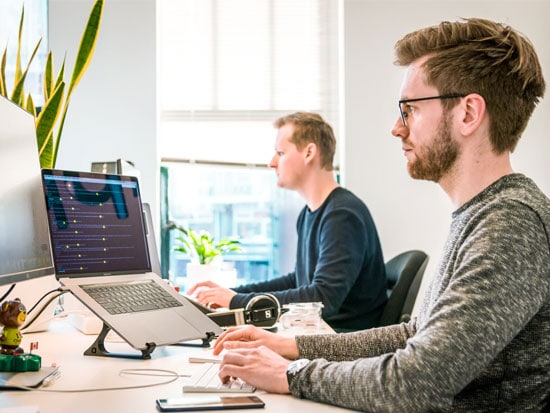 developer aan het werk